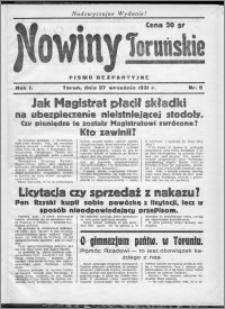 Nowiny Toruńskie 1931, R. I, nr 9