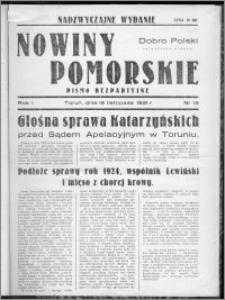Nowiny Toruńskie 1931, R. I, nr 13