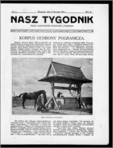 Nasz Tygodnik 1926, R. III, nr 4