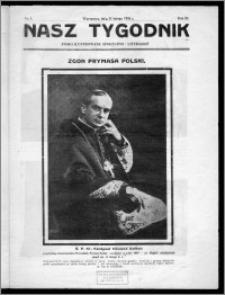 Nasz Tygodnik 1926, R. III, nr 8