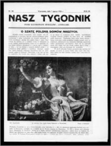 Nasz Tygodnik 1926, R. III, nr 10