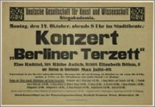 [Afisz:] Konzert Berliner Terzett