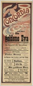 [Afisz:] Die goldene Eva