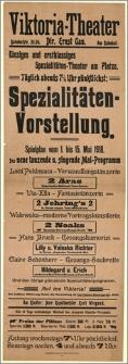 [Afisz:] Spielplan vom 1. bis 15. Mai 1918