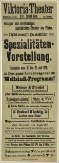 [Afisz:] Spielplan vom 16. bis 31. Juli 1918
