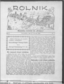 Rolnik 1927, R. 1, nr 1
