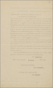 Odpis listu uwierzytelniającego/akredytacyjnego, wystawionego przez Prezydenta Ignacego Mościckiego dla Konsula Generalnego RP w Paryżu – Karola Poznańskiego, Warszawa, 10 lutego 1927 r
