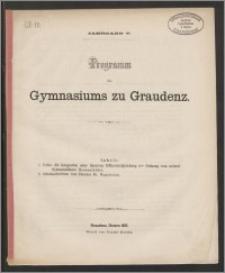 Programm des Gymnasiums zu Graudenz