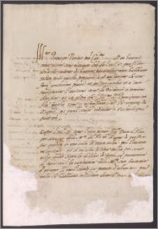 Bona Sforza królowa polski do Fernanda Gonzagi, prosi o zatwierdzenie sprzedaży komory celnej czego dokonał w imieniu cesarza książe Alba za 300 000 dukatów