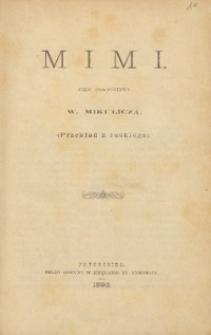 Mimi : szkic powieściowy