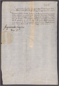 Zygmunt August król polski nakazuje Janowi Modliszewskiemu żupnikowi bydgoskiemu wydać klasztorowi franciszkanów w Kole 2 beczki soli