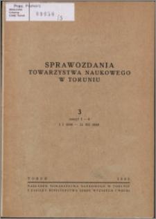 Sprawozdania Towarzystwa Naukowego w Toruniu 1949, nr 3