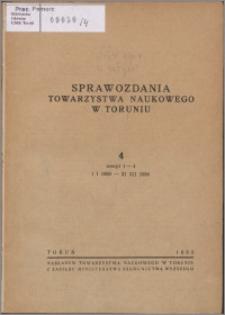 Sprawozdania Towarzystwa Naukowego w Toruniu 1950, nr 4