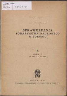 Sprawozdania Towarzystwa Naukowego w Toruniu 1951, nr 5