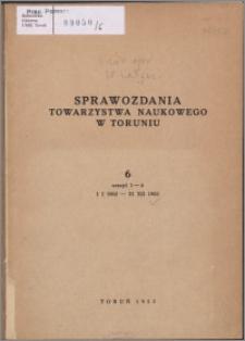 Sprawozdania Towarzystwa Naukowego w Toruniu 1952, nr 6