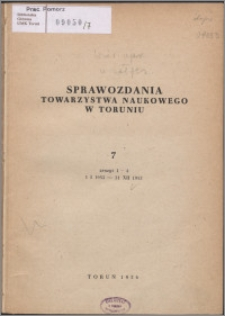 Sprawozdania Towarzystwa Naukowego w Toruniu 1953, nr 7