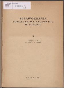 Sprawozdania Towarzystwa Naukowego w Toruniu 1954, nr 8