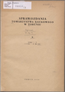 Sprawozdania Towarzystwa Naukowego w Toruniu 1955, nr 9