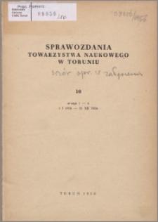 Sprawozdania Towarzystwa Naukowego w Toruniu 1956, nr 10