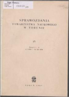 Sprawozdania Towarzystwa Naukowego w Toruniu 1959, nr 13