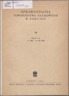 Sprawozdania Towarzystwa Naukowego w Toruniu 1960, nr 14