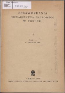 Sprawozdania Towarzystwa Naukowego w Toruniu 1961, nr 15