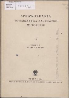 Sprawozdania Towarzystwa Naukowego w Toruniu 1962, nr 16