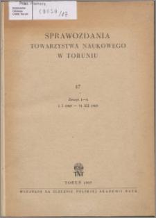 Sprawozdania Towarzystwa Naukowego w Toruniu 1963, nr 17