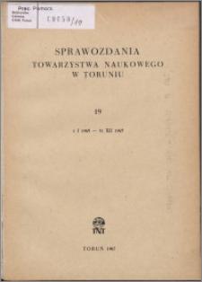 Sprawozdania Towarzystwa Naukowego w Toruniu 1965, nr 19