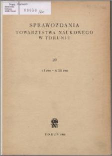 Sprawozdania Towarzystwa Naukowego w Toruniu 1966, nr 20