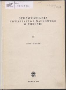 Sprawozdania Towarzystwa Naukowego w Toruniu 1968, nr 22