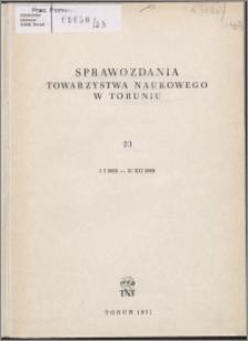 Sprawozdania Towarzystwa Naukowego w Toruniu 1969, nr 23