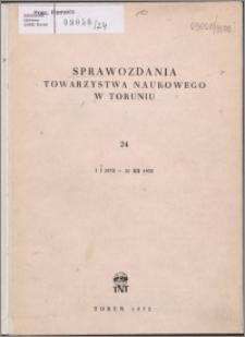 Sprawozdania Towarzystwa Naukowego w Toruniu 1970, nr 24