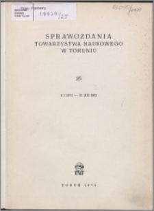 Sprawozdania Towarzystwa Naukowego w Toruniu 1971, nr 25