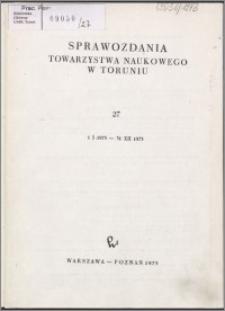 Sprawozdania Towarzystwa Naukowego w Toruniu 1973, nr 27