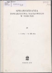 Sprawozdania Towarzystwa Naukowego w Toruniu 1974, nr 28