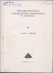 Sprawozdania Towarzystwa Naukowego w Toruniu 1974, nr 29