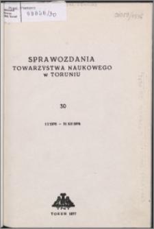 Sprawozdania Towarzystwa Naukowego w Toruniu 1976, nr 30