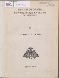 Sprawozdania Towarzystwa Naukowego w Toruniu 1977, nr 31