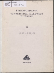 Sprawozdania Towarzystwa Naukowego w Toruniu 1978, nr 32