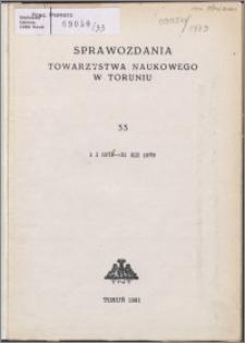 Sprawozdania Towarzystwa Naukowego w Toruniu 1979, nr 33