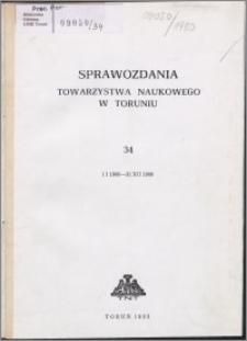 Sprawozdania Towarzystwa Naukowego w Toruniu 1980, nr 34
