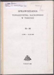 Sprawozdania Towarzystwa Naukowego w Toruniu 1981-1982, nr 35-36