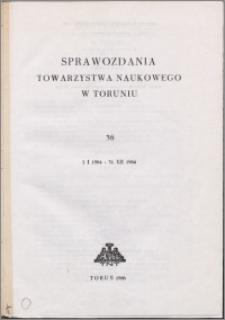 Sprawozdania Towarzystwa Naukowego w Toruniu 1984, nr 38
