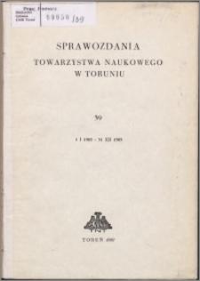 Sprawozdania Towarzystwa Naukowego w Toruniu 1985, nr 39