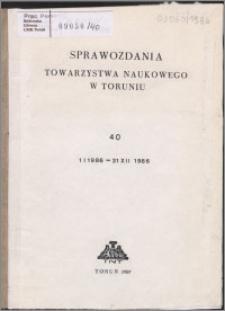 Sprawozdania Towarzystwa Naukowego w Toruniu 1986, nr 40