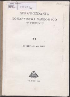 Sprawozdania Towarzystwa Naukowego w Toruniu 1987, nr 41