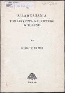Sprawozdania Towarzystwa Naukowego w Toruniu 1988, nr 42