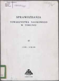 Sprawozdania Towarzystwa Naukowego w Toruniu 1991, nr 45