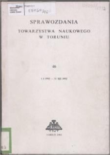Sprawozdania Towarzystwa Naukowego w Toruniu 1992, nr 46